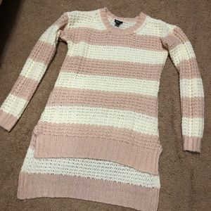 Sweaters - Pink and white sweater